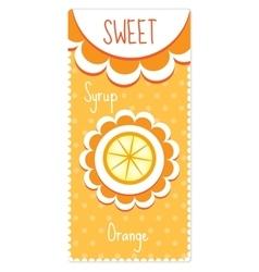Sweet fruit labels for drinks syrup jam Orange vector image vector image
