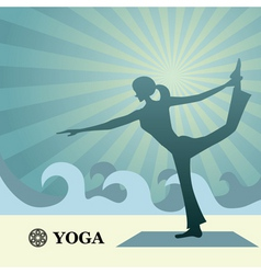 yoga and pilates background vector image vector image