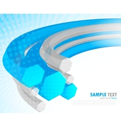 background with hexagon vector image