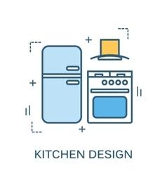 banner of kitchen design vector image