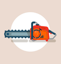 chainsaw icon chain saw pictogram icon vector image vector image