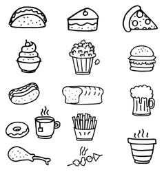 Doodle of food object vector image vector image