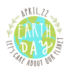 earth day 22 of april vector image