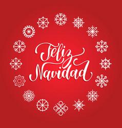 Feliz navidad translated merry christmas vector