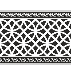 gothic floral texture border vector image vector image