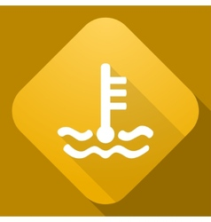 icon of Coolant Level Sign with a long shad vector image vector image