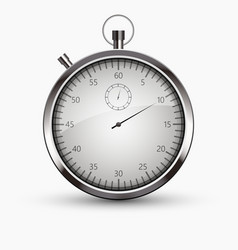 modern stopwatch icon on white background vector image