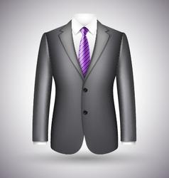 elegant business suit vector image vector image