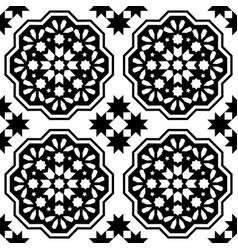 geometric seamless pattern moroccan tiles design vector image