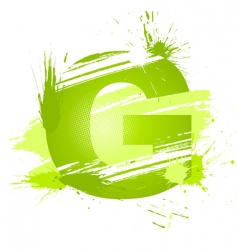 Letter G background vector image vector image