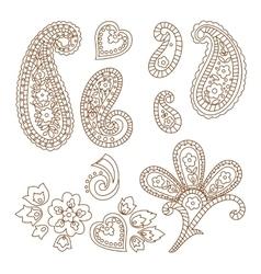 Paisley patterns vector image