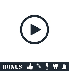 Play button icon flat vector image