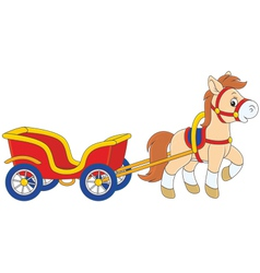 Pony with a cart vector