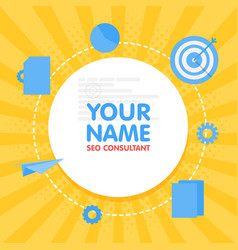 social network seo optimization consultant avatar vector image