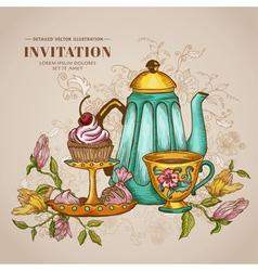 Vintage Menu or Invitation Card vector image