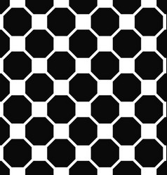 Abstract seamless black and white octagon pattern vector image