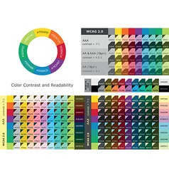 Color contrast and readability vector image vector image
