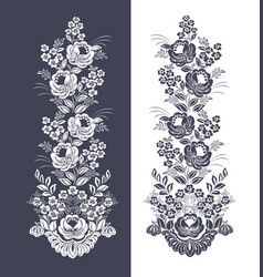 floral pattern collection of flowers vector image vector image