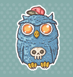 funny cartoon owl vector image vector image