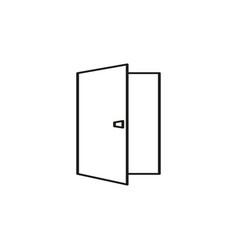 opened door icon vector image