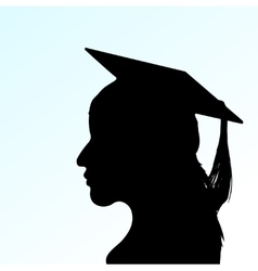 young girl with Mortar Board vector image vector image