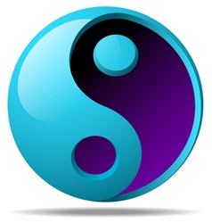 3d ying yang sign vector image