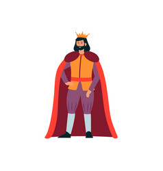 A medieval man king from a fairy tale in a gold vector