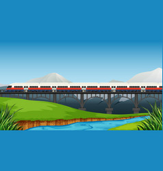 A rail to rural landscape vector