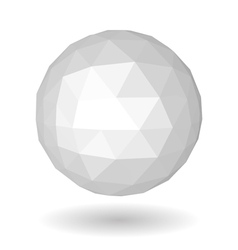 Abstract white low polygonal sphere vector