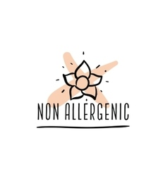 Allergens free non allergenic labels vector image