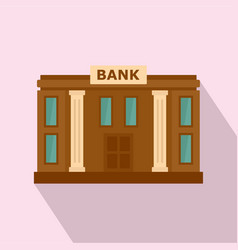 bank icon flat style vector image