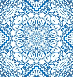 Blue Mandala Patterned Background vector