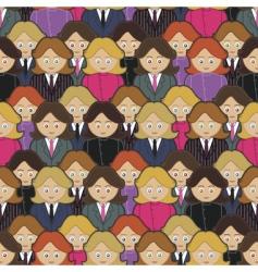 business women pattern vector image