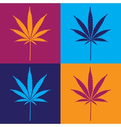 Cannabis leaf popart vector image