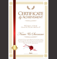 Certificate or diploma retro template 08 vector