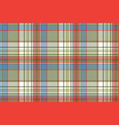 Coloured plaid shirting diagonal seamless fabric vector
