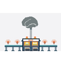 Concept create ideas functions brain vector