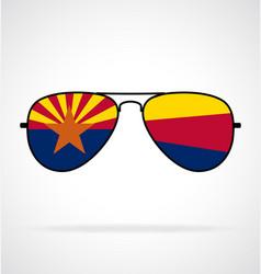 cool aviator sunglasses with arizona az flag vector image