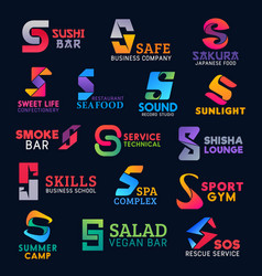 Creative s icons corporate identity design signs vector