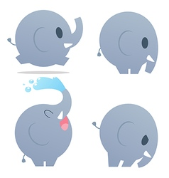 CuteCartoonElephant vector