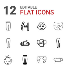 diaper icons vector image