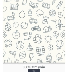 Ecology wallpaper Black and white marketing vector image