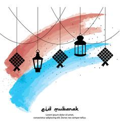 Eid mubarak greeting background with vector