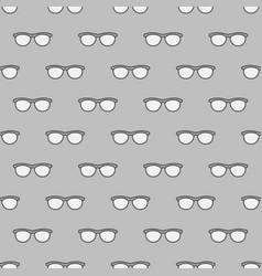 Eyeglasses seamless gray pattern vector