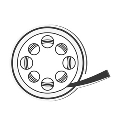Film reel cinema movie design vector
