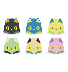 funny cat heads vector image