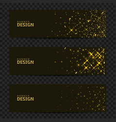 golden confetti banners vector image