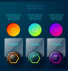 gradient options menu background vector image