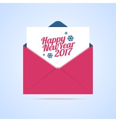 Happy New Year 2017 email vector image