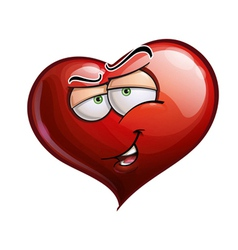Heart Faces Hey You vector